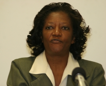 Permanent Secretary in the Premier's Ministry, Miss Angelica Elliott