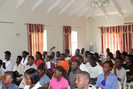 A section of participants and employers at the closing ceremony of the 8th annual Summer Job Attachment Programme