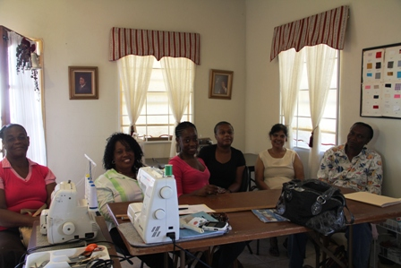 Participants at the three-week Industrial Sewing Workshop at Ramsbury