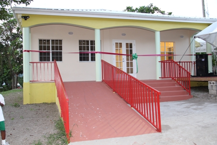 The New Barnes Ghaut Adult Education Centre before it was officially handed over to the Nevis Island Administration