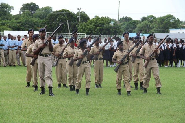 Members of the Cadet Corp on parade