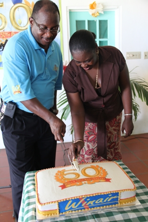 Cutting of WINAIR Anniversary cake