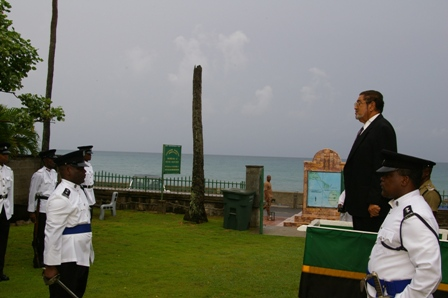 Dep. Gov. General, Mr. Eustace John at the saluting dias