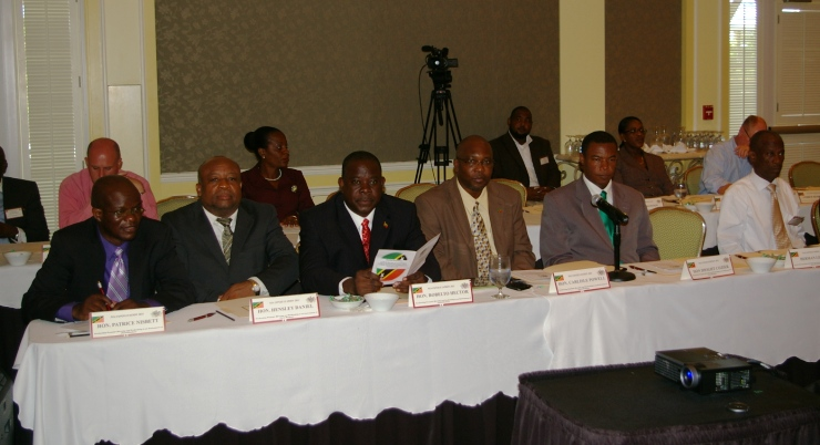 Members of Nevis Island Cabinet at Consultation