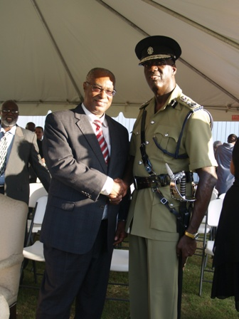 Premier of Nevis and new Commissioner Mr. Celvin G. Walwyn