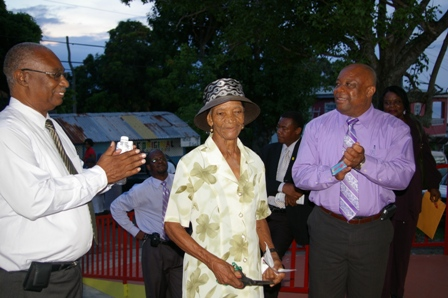 Premier Parry , Eglantine Duberry and Hon. Hensley Daniel