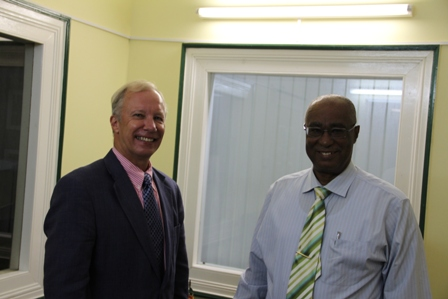 Swedish Ambassador to the Caribbean, Claes Hammar and Premier of Nevis, Hon. Joseph Parry
