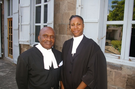 Judge Redhead and Mrs. Jeffers