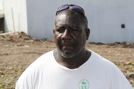 Contractor for construction of the new Petal design one bedroom house being offered by the Nevis Housing and Land Development Corporation Mr. Trevor Sutton of Butlers Village