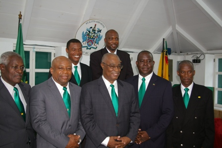 Nevis Island Cabinet in the Chambers of the House of Assembly