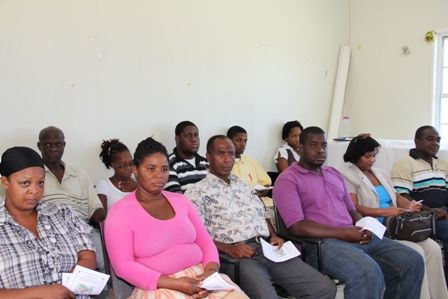 A section of persons present at the launching ceremony of the New River Farmers Development Cooperative Society Limited, at the Department of Agriculture's conference room in Prospect