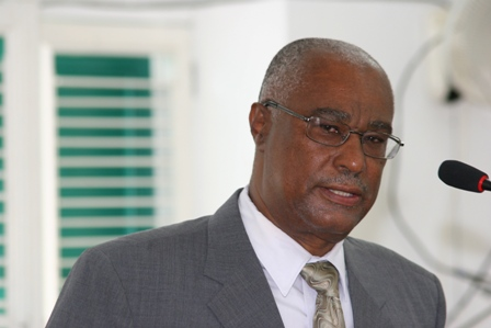 Premier of Nevis, Hon.Joseph Parry in the Nevis House of Assembly