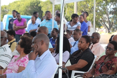 A section of persons present at the official dedication of the Horsford's Valu Mart IGA Supermarket and Commercial Complex at Farms Estate on Nevis For more news out of Nevis visit www.nia.gov.kn your window into Nevis