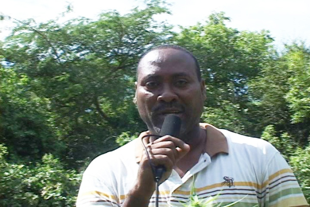 Head of the Royal St. Christopher and Nevis Police Force Nevis Division's Task Force Inspector Winston Wilkinson