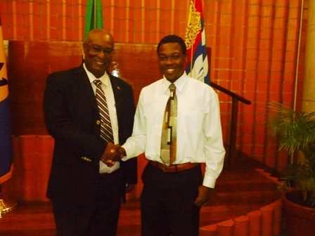 Premier and Mr. Azard Gumbs