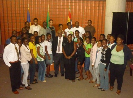 Premier Parry and students