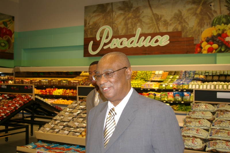 Premier Parry touring the new supermarket