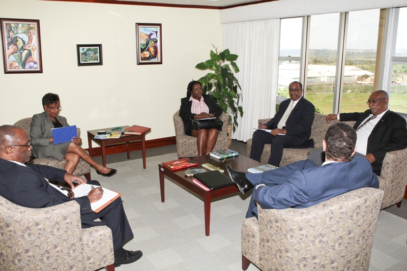 Premier of Nevis, Hon.Joseph Parry, Mrs.Lornette Queeley Connor and Senior officials of CDB