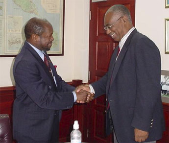 Rt. Hon. Prime Minister of St.Kitts-Nevis Dr. Denzil Douglas and Premier of Nevis, Hon. Joseph Parry (File Photo)