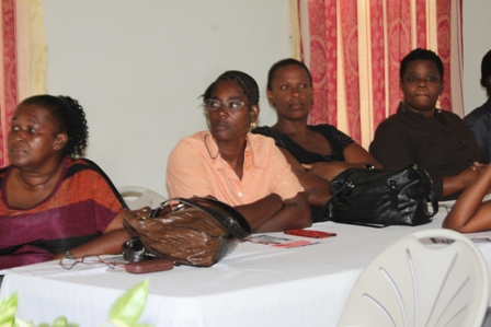 Some of the Single Parents at the Workshop hosted for them by the Single Parents Support Group of the Social Services Department, Nevis Island Administration