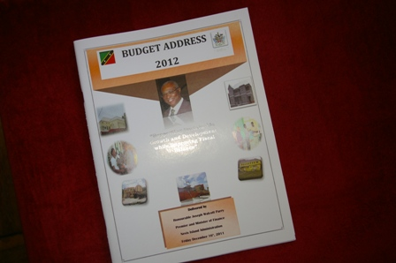 Budget Address booklet