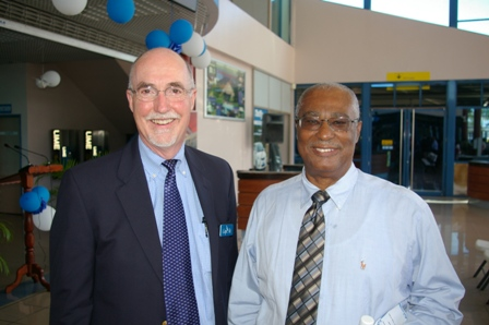 Cape Air President, Mr.Dave Bushy and Premier of Nevis, Hon.Joseph Parry