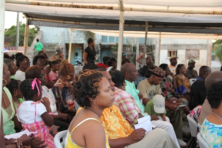A cross section of the audience present at the official opening of the Cotton Ground Community Centre on December 17 2011