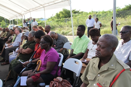 Some of the persons present at the dedication and official opening of the Cotton Ground Police Station on December 22, 2011