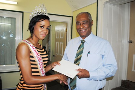 Premier of Nevis, Hon. Joseph Parry and Miss Caribbean Culture Queen Miss Oneka Mc Koy