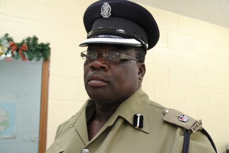 Officer in Charge of the of the Royal St. Christopher and Nevis Police Force Nevis Division Superintendent Hilroy Brandy