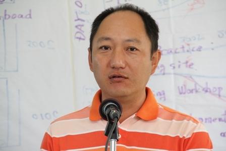 Marine Biologist, JICA Expert who facilitated the workshop Mr. Mitsuhiro Ishida