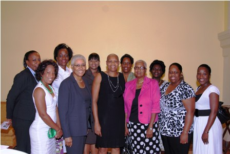 NRP Women's Arm with Hon. Marcella Liburd and Mrs. Mary Ann  Chambers (in center)