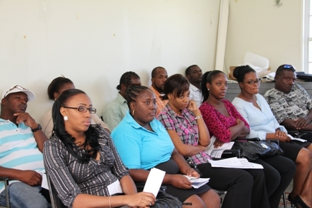 Participants from St. Kitts and Nevis at the two-day workshop on Fisheries Quality Control sponsored by the Department of Fisheries (NIA) and the Japanese International Cooperation Agency