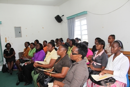 Participants and facilitators at the UNESCO sponsored two-day Autism Project Workshop held at the Department of Education on Nevis