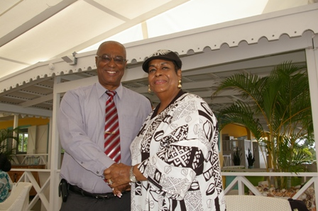 Premier of Nevis and wife of Hon. Louis Farrakhan, Mrs. Khadijah Farakhan