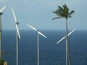 Wind farm at Maddens, Nevis