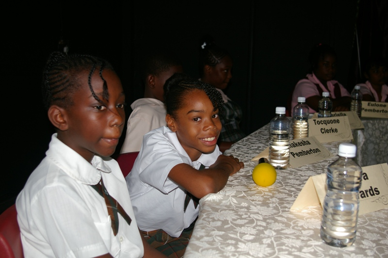 Bellvue children participating in the quiz