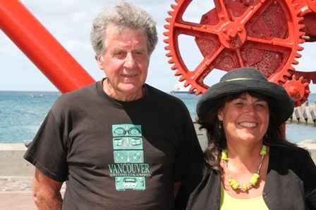 Ray and Gail Hunt from Vancouver in British Colombia, Canada in love with Nevis. Plan to visit again and again