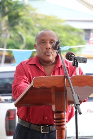 Assistant Secretary in the Ministry of Tourism Mr. Carl Williams at the official opening of Tourism Week 2012 in Charlestown