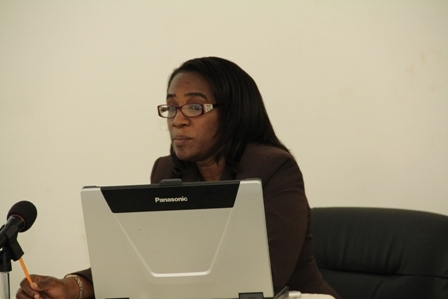 Environmental Officer in the Department of Physical Planning, Natural Resources and Environment Ms. Claudia Walwyn
