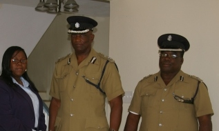 Mrs.Trecia Daniel, ACP Robert Liburd and Supt. Hilroy Brandy