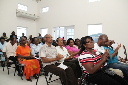 A cross section of persons present at the official opening of the Combermere Community Centre