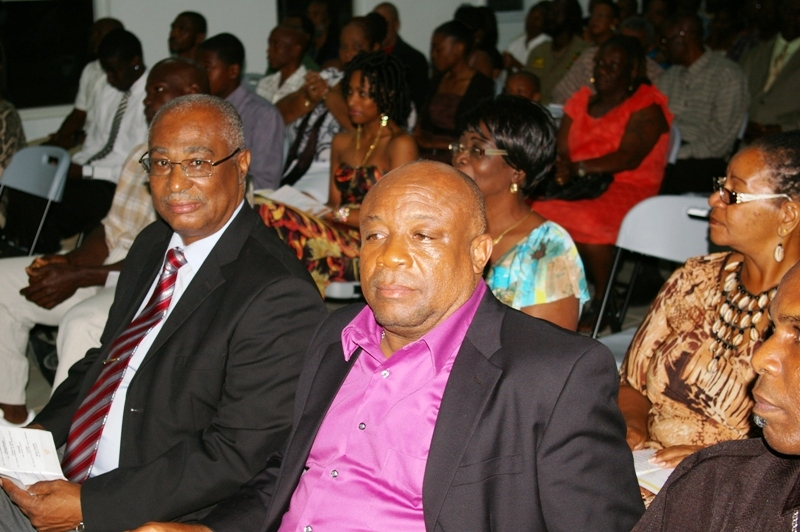 Premier of Nevis, Hon. Joseph Parry and Deputy Premier, Hon. Hensley Daniel at the Nevis Sports Awards Ceremony