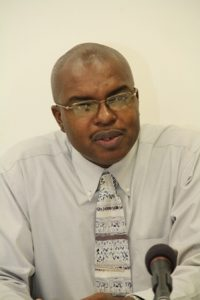 Permanent Secretary in the Ministry of Physical Planning, Natural Resources and Environment Mr. Ernie Stapleton