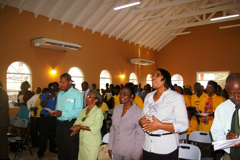 Audience at the opening ceremony of the Jessups Community Center