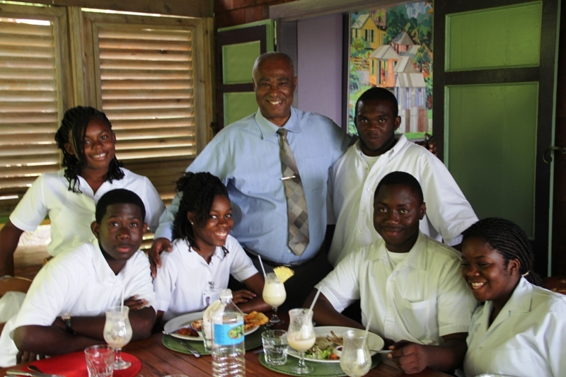 Nevis debating team with Premier of Nevis, Hon. Joseph Parry
