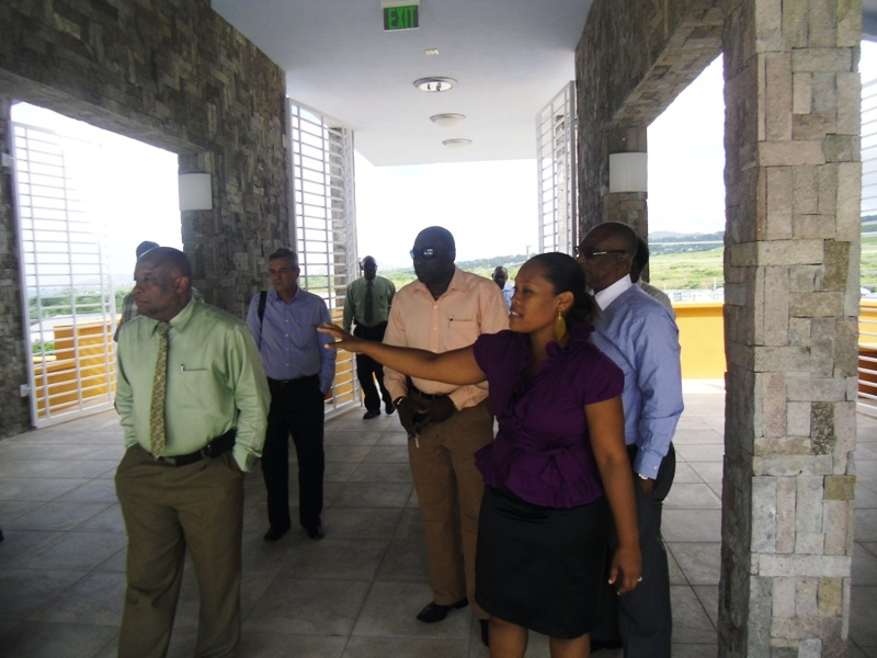 Performing Arts Manager, Mrs.Deslyn Williams Johnson leads tour of Nevis Island Cabinet and Surrey Paving team