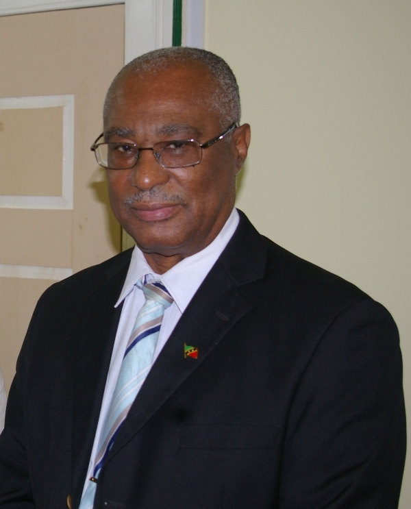 Premier of Nevis, Hon. Joseph Parry at his Bath Hotel Office (File Photo)