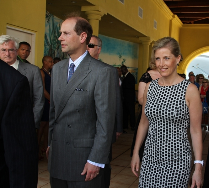Prince Edward and Princess Sophie in St.Kitts