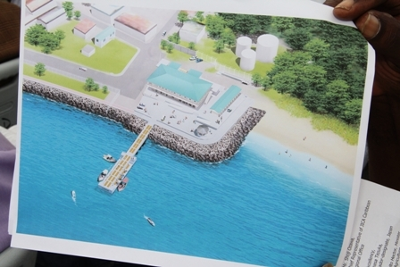 An artist's impression of the New Charlestown Community Fisheries Complex at Gallows Bay